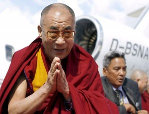 The Dalai Lama arrives in Hamburg