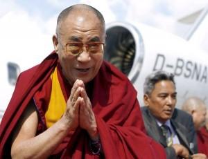 The Dalai Lama arrives in Hamburg