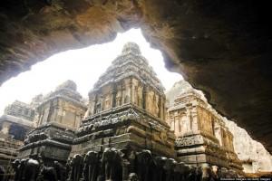 Cave No, 16, Kailash Temple, Ellora, Aurangabad, Maharashtra, India.